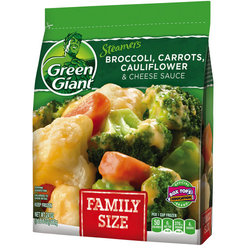Green Giant Vegetables Broccoli Carrots Cauliflower & Cheese Sauce Family Size, 24 oz