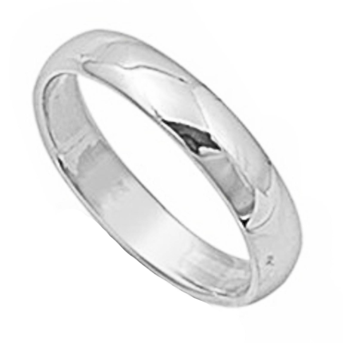 Round Plain Solid Wedding Band 5 MM .925 Sterling Silver Ring Sizes 4-14