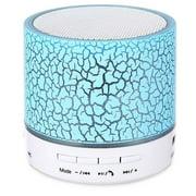 VicTsing LED Portable Mini Bluetooth Speaker Crack Pattern Wireless Bass Speaker Support Micro SD/TF Card / USB / FM (Blue)