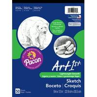 Art1st Sketch Pad, 60 lbs. Heavyweight Drawing Paper. 9 x 12, 50 Sheets