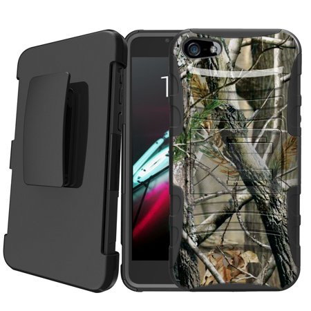 newest 40c21 846fd Apple iPhone 5   iPhone 5s   iPhone SE Holster Case [Camo Case][Camouflage  Design Series] w/ Built-In Kickstand + Bonus Holster - Nature Camo