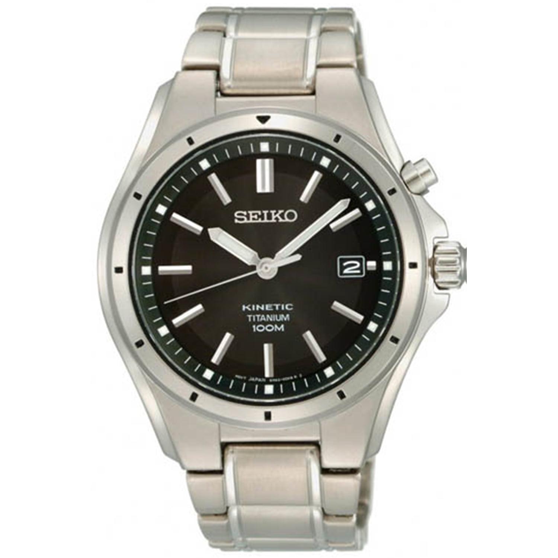 Seiko Men's SKA493 Black Titanium Quartz Watch