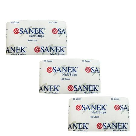 Salon Barber Hair Stylist GRAHAM SANEK 3 Packs of 60 Neck Strips
