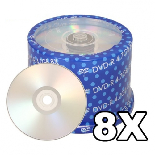 200 Spin-X 8X DVD-R 4.7GB Silver Inkjet