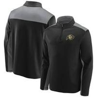 Colorado Buffaloes Fanatics Branded School Logo Colorblock Quarter-Zip Jacket - Black