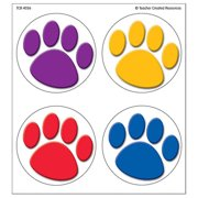 COLORFUL PAW PRINTS WEAR EM BADGES