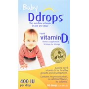 Best Liquid Oxygen Drops - 2 Pack Baby Ddrops Liquid Vitamin D3 400 Review