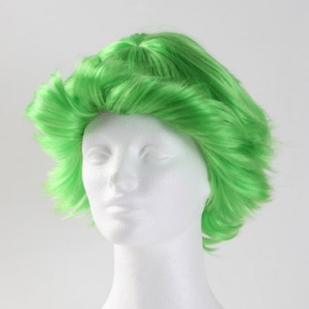 Fun Flip Clown Wig  - Green - Green Clown Wig