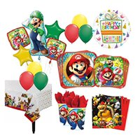The Ultimate 16 Guest 94pc Super Mario Brothers Birthday Party Supplies