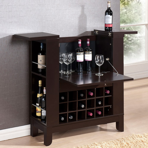 Baxton Studio Modesto Modern Dry Bar and Wine Cabinet, Brown