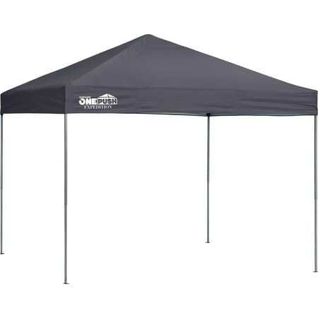 Expedition EX100 One Push 10 x 10 ft. Straight Leg Canopy - Charcoal