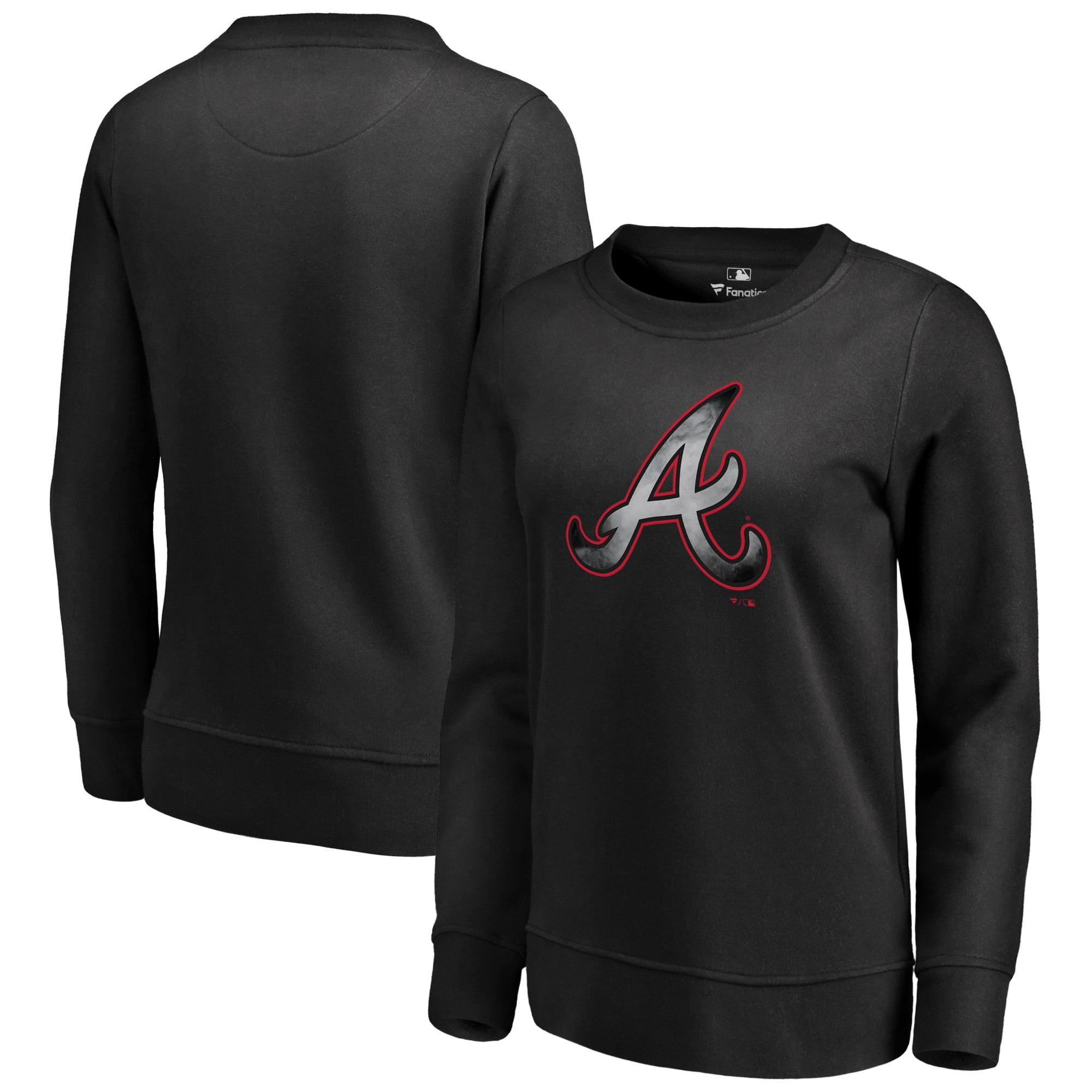 Atlanta Braves Fanatics Branded Women's Core Smoke Fleece Sweatshirt - Black