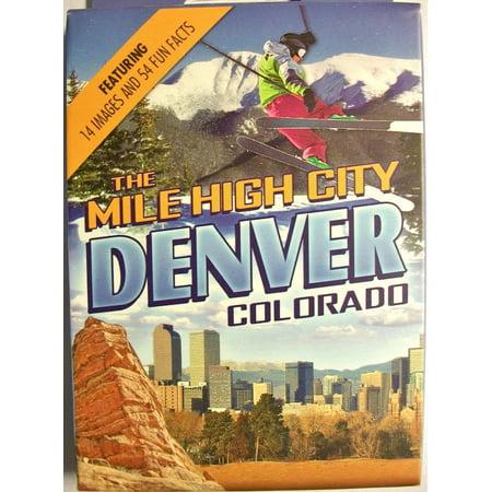 Denver Colorado The Mile High City Souvenir Playing Cards - Halloween City Jobs Denver
