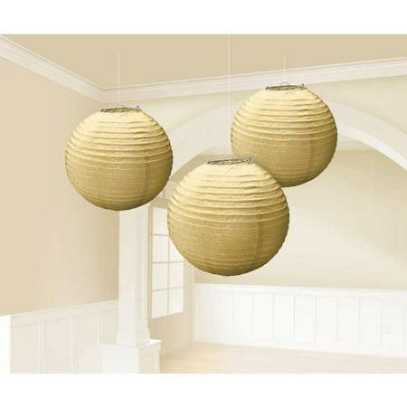 Gold Paper Lanterns 9.5