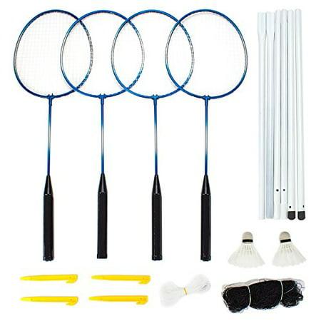 Crown Sporting Goods 4-Player Backyard Badminton Set, Net, Birdies, Carry  Case - Crown Sporting Goods 4-Player Backyard Badminton Set, Net, Birdies