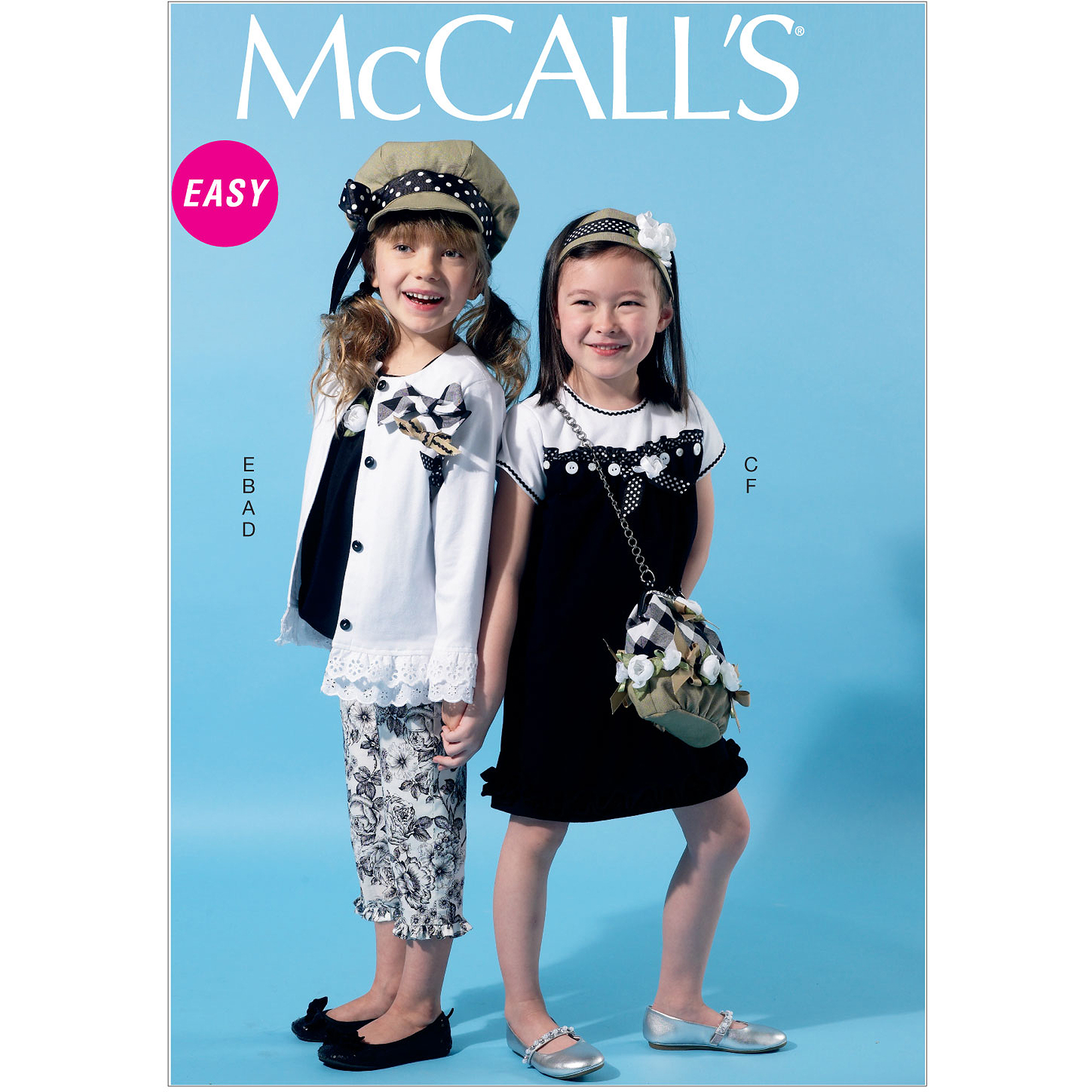 McCall's Pattern Children's and Girls' Cardigan, Top, Dress, Pants, Hat and Purse, CDD (2, 3, 4, 5)