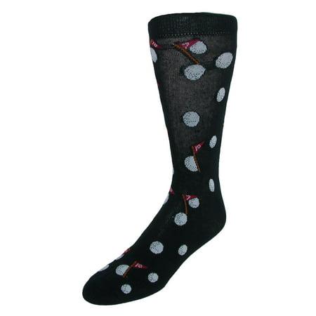 Parquet Men's Novelty Golf Pattern Dress Socks - image 1 of 1