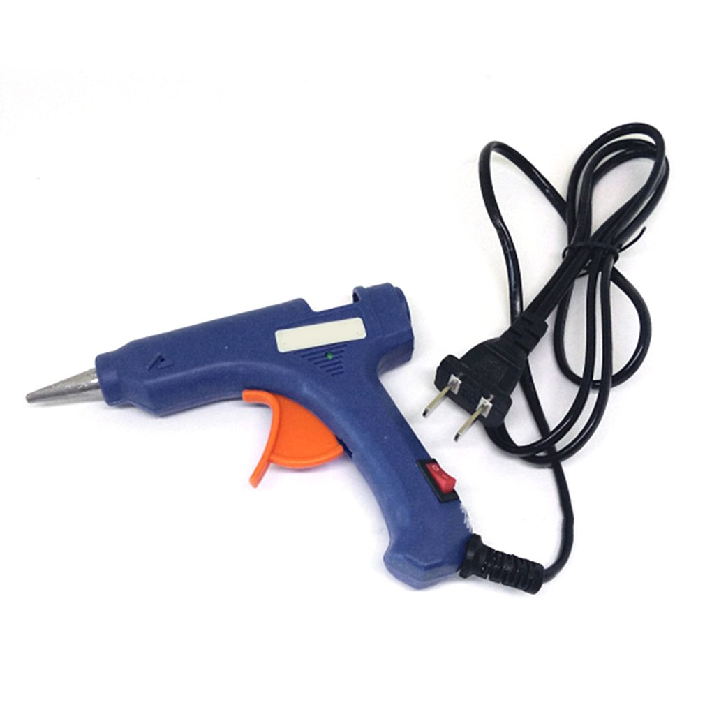 20W Mini Hot Melt Glue Gun High Temperature Melting Tool Electric Repair Tool,Blue