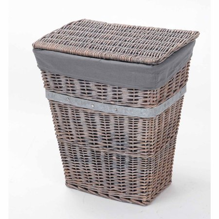 Better Homes And Gardens Wicker Hamper Grey Walmart Com