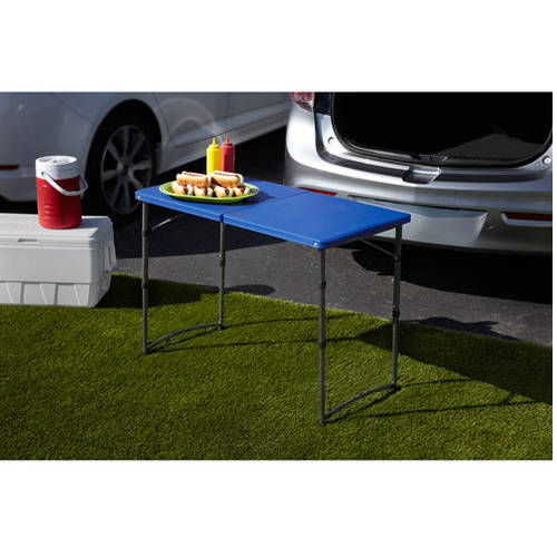 Mainstays Adjustable Folding Tailgating Table, Set of 2, Multiple Colors