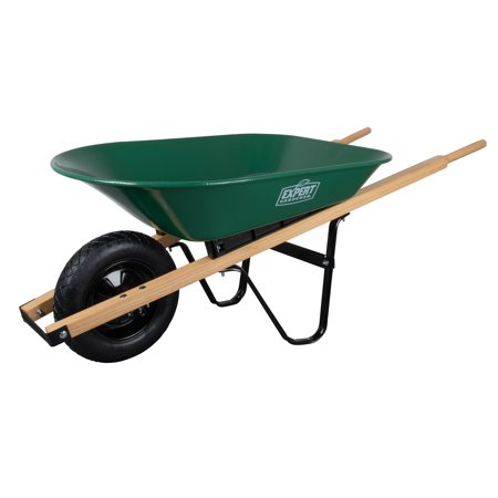 Expert Gardener Steel Wheelbarrow - 4 Cubic Feet