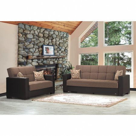 Upholstery Sofas Sofa Sets - Armada Fabric Upholstery Sofa Sleeper Bed with Storage
