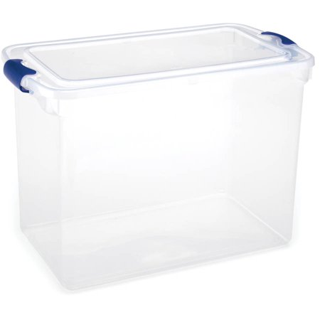 Homz 112 Qt Latching Clear Storage Boxes  Set Of 2