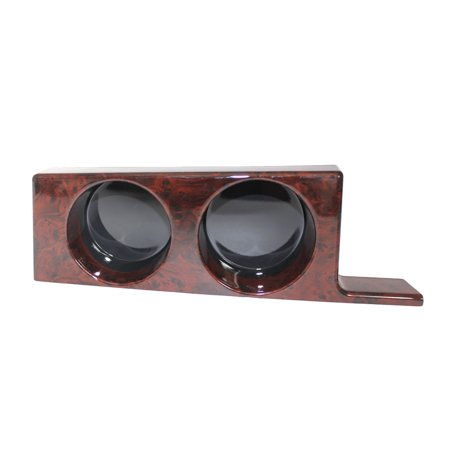 Car Cup Holder Double Cup Holder Center Front Console Insert Interior Drinking Cup Bracket Peach Wood Grain for BMW 5 Series E39 97-03