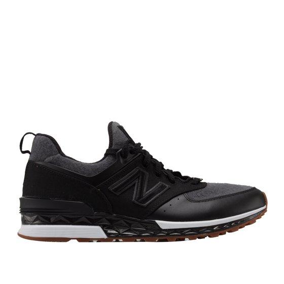 newest 51b1e a2bc2 New Balance x New Era 574 Sport Black/Dark Grey Men's Running Shoes MS574NE