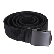 Black Nylon Web Belt Black Buckle
