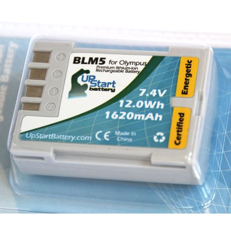 2x Pack - Olympus PS-BLM1 Battery + Charger - Replacement for Olympus BLM5, BLM-01 Digital Camera Battery and Charger (1620mAh, 7.4V, Lithium-Ion) - image 3 of 3