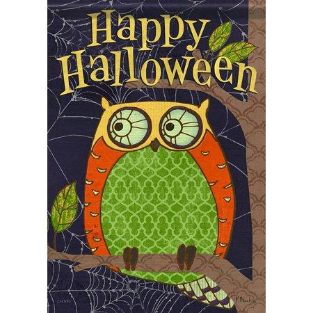 Home Accents Halloween Owl Trends Classic Garden Flag, Flag measures 13
