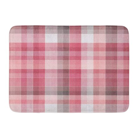 GODPOK Check Pastel Checkered Multicolor Abstract Colorful Design Bright Plaid in Cell Chequered Rug Doormat Bath Mat 23.6x15.7 inch