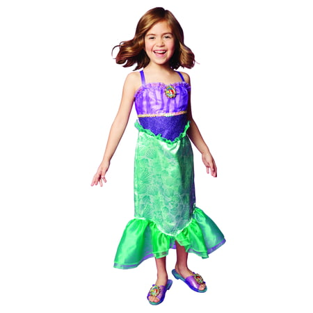 Disney Princess Ariel Dress Costume, Perfect for Party, Halloween Or Pretend Play Dress Up For Girls Ages 3+