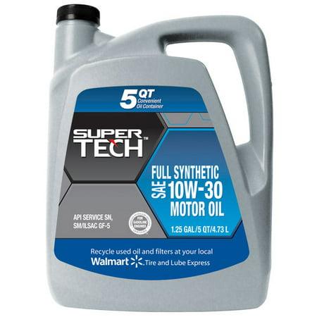 Supertech Full Synthetic 10w30 Motor Oil 5 Quart