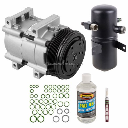 AC Compressor w/ A/C Repair Kit For Ford Bronco F-150 F-250 F-350 1994 (Ford Bronco A/c Compressor)