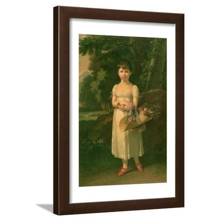 Portrait of Amelia Oginski, 1808 Framed Print Wall Art By Francois Xavier Fabre