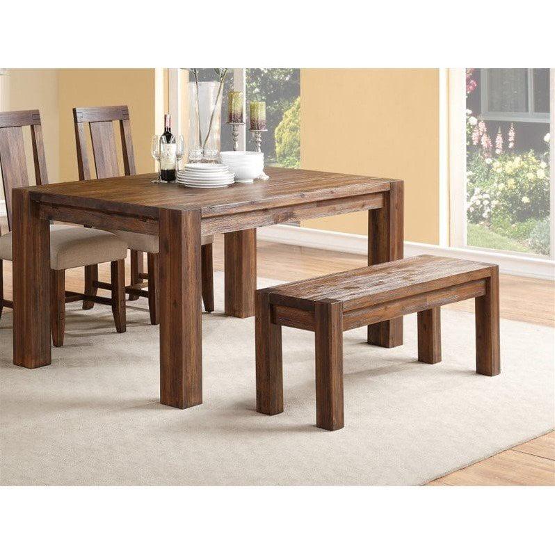 Modus Furniture Meadow Solid Wood Bench in Brick Brown - image 1 de 3