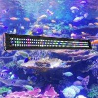 Yescom Multi-Color 78/129/156 LEDs Aquarium Light Freshwater Saltwater Fish Tank Lamp with Extendable Bracket