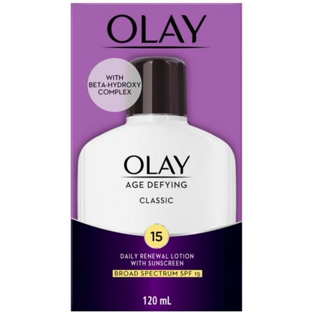 OLAY Age Defying Classic Daily Renewal Lotion, With Sunscreen, Classic 4 oz Age Defying Marine