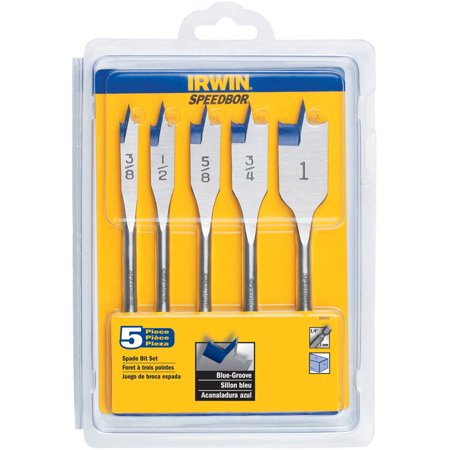 Irwin Speedbor Multiple in. Dia. x 6 L Carbon Steel Spade Bit Set 1/4 in. Hex Shank 5 pc.