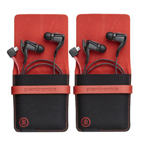 Plantronics Backbeat GO 2 Black Stereo Bluetooth Headset (2 Pack) With Charging Case