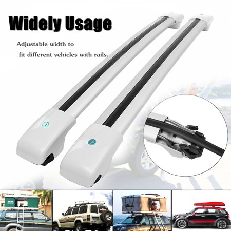 Top Roof Rack Cross Bar Luggage Carrier Key Lock For Jeep Cherokee 2014 2015 2016 2017 Black Silver