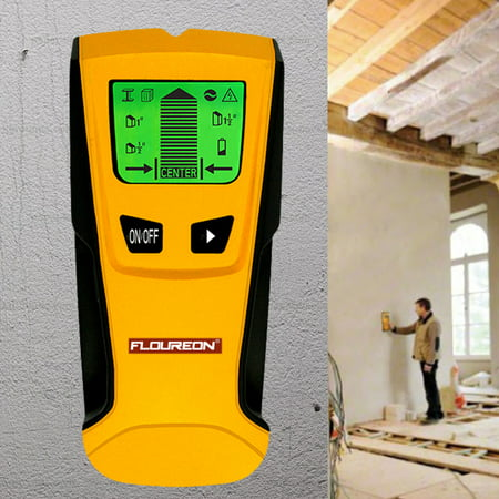 Floureon LCD Stud Center Finder, Wall Metal and AC Live Wire Detector StudSensor Finding Scanner Measure Hands Tool