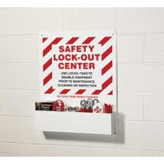 ACCUFORM SIGNS KST423 Lockout Station, Filled, 6 Steel Padlocks