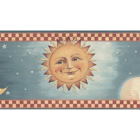 Halloween Full Moon Wallpaper (Rolling-Borders 30992120 Moon and Stars Wallpaper Border - Light)
