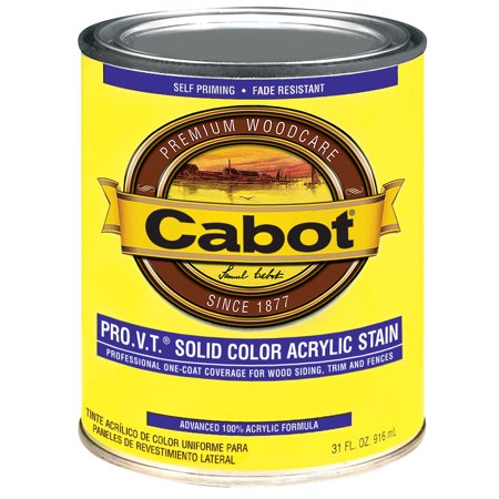 Cabot 800 Self Priming Water Based Solid Color Siding Stain  1 Qt  Brown  Deep Base