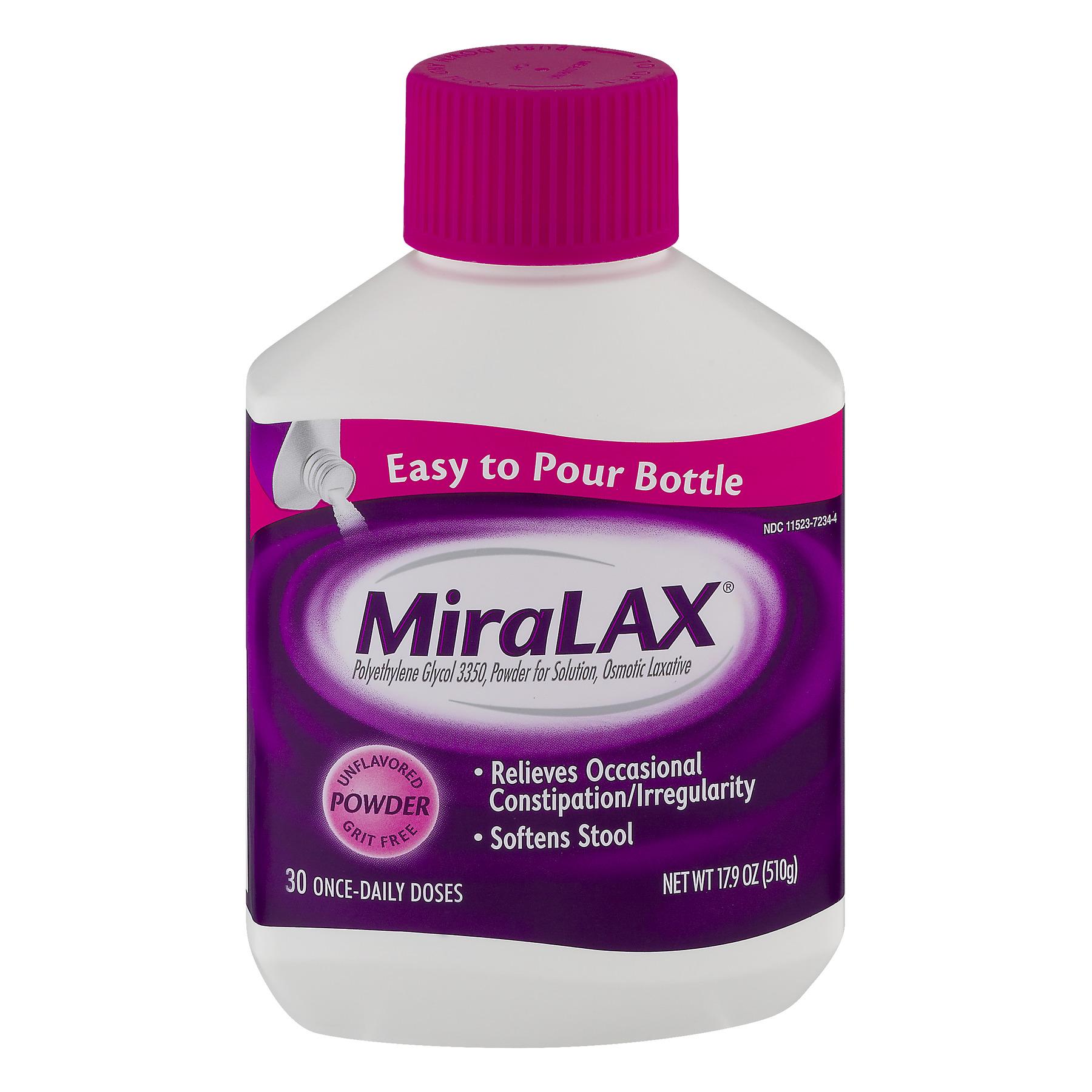MiraLAX Laxative Unflavored Powder, 17.9 OZ