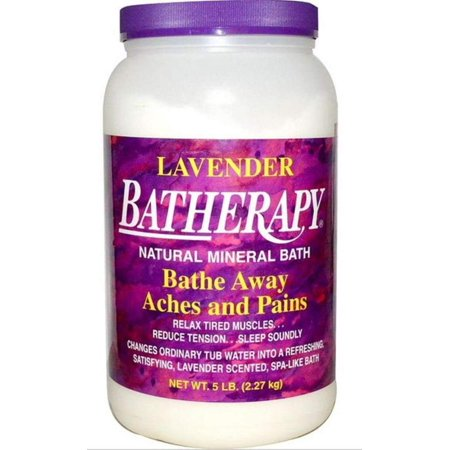 Batherapy Natural Mineral Bath, Lavender, 5 Pound, Perfect antidote to tension and fatigue By Queen Helene