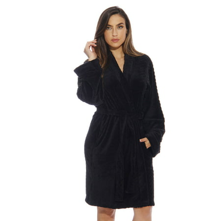just love kimono robe bath robes for women 6312-black-xs